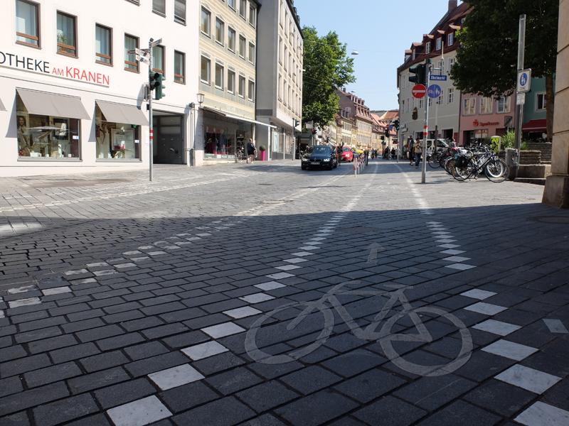 Radweg am Obstmarkt in Bamberg | Radfahrerzone.de