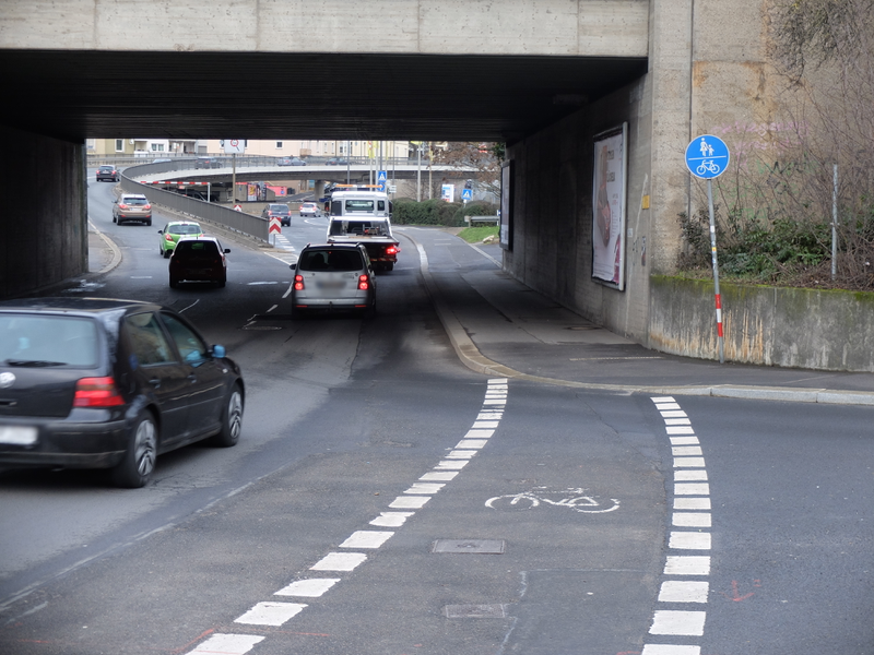 Gemeinsamer Geh- und Radweg Schweinfurter Straße | Radfahrerzone.de