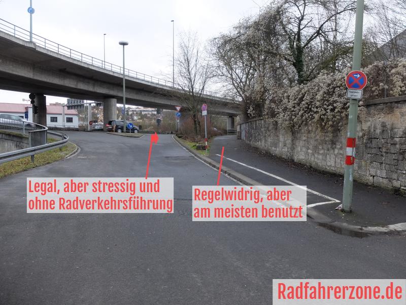 Zwei Optionen zum Weiterfahren am Europastern | Radfahrerzone.de