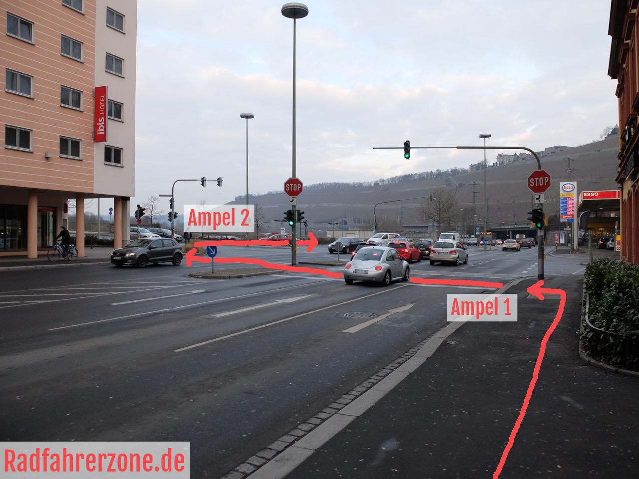 Veitshöchheimer Straße - Brücke der deutschen Einheit, Würzburg